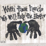 Handprint Earth Day Craft (Using Newspaper)
