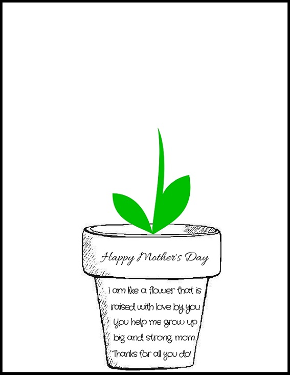 Printable Poem Flower Pot For Mother S Day Crafty Morning