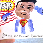 Handprint Superhero Father's Day Card