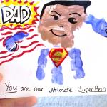 Handprint Superhero Father's Day Card