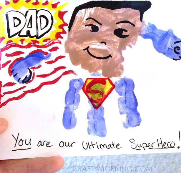 Handprint Superhero Father S Day Card Crafty Morning