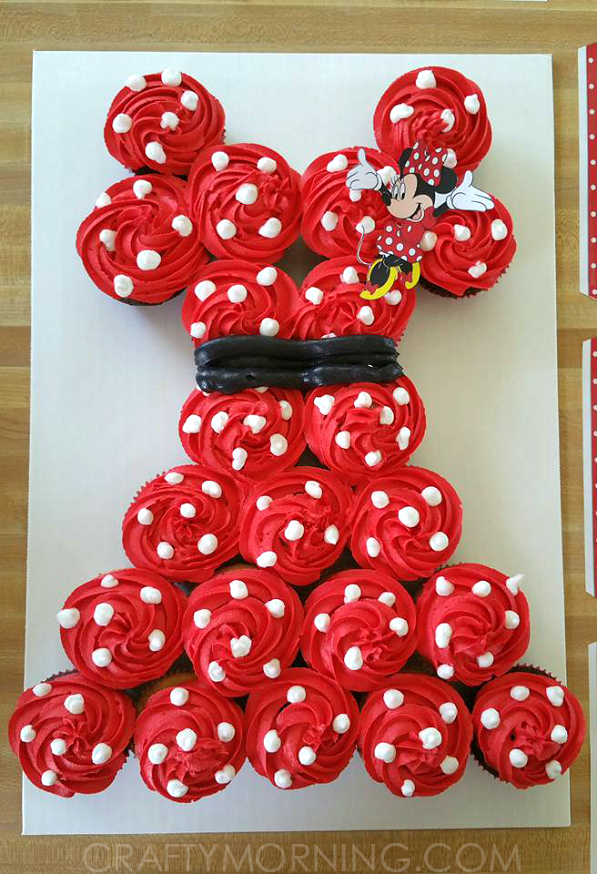 Minnie Mouse Pull Apart Cupcake Cake Crafty Morning