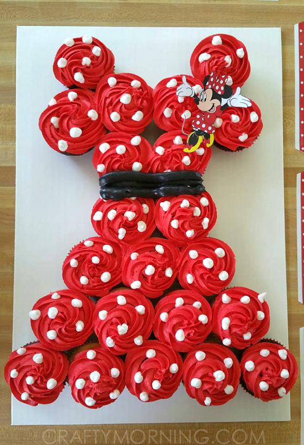 How To Make A Minnie Mouse Cupcake Cake