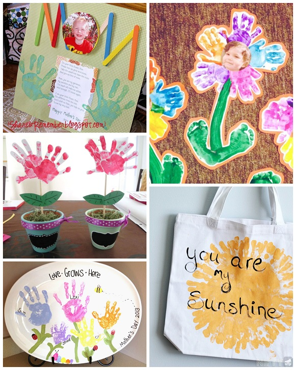Mother s day handprint crafts gift ideas for kids to
