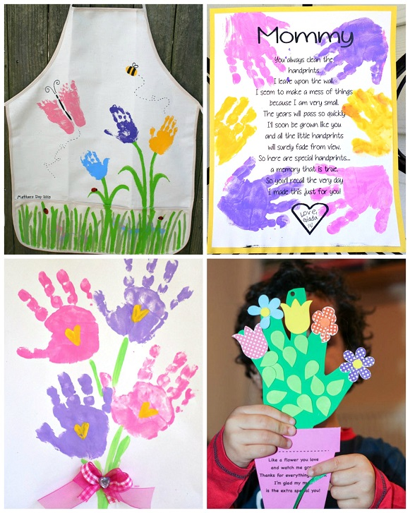 mother 39 s day handprint crafts gift ideas for kids to
