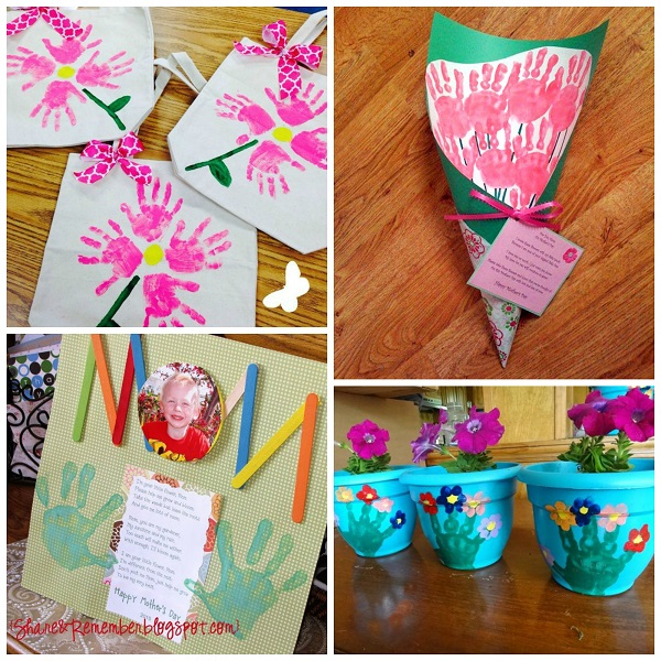 Craft Gift Ideas For Kids Part - 25: Motheru0027s Day Handprint Crafts U0026 Gift Ideas For Kids To Make - Crafty Morning