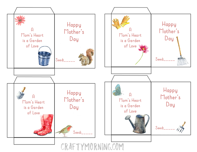 Mother S Day Seed Packet Printables Crafty Morning