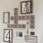 Family Wood Scrabble Wall Art