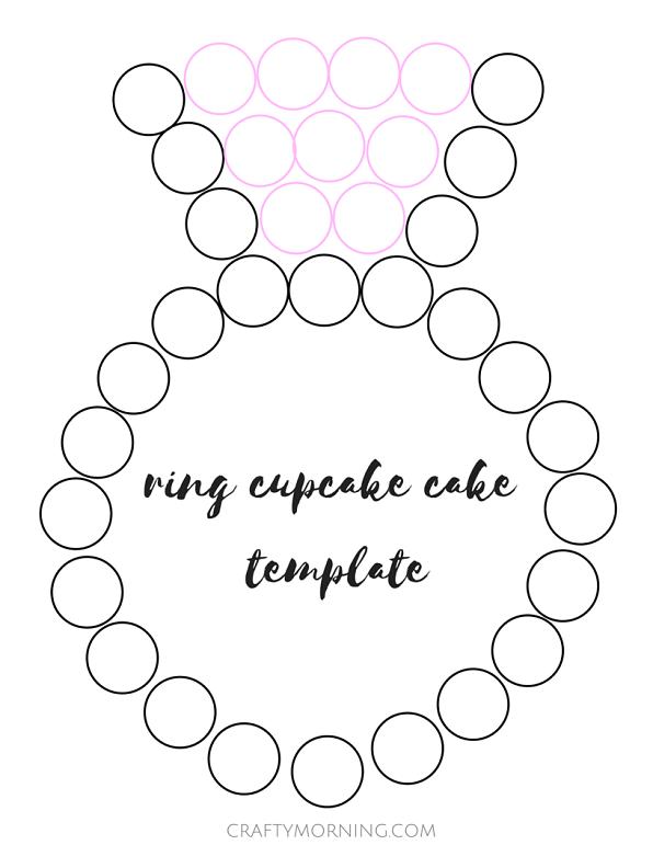 wedding engagement ring cupcake cake template