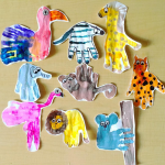Wild Animal Handprint Crafts