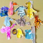Wild Animal Handprint Crafts