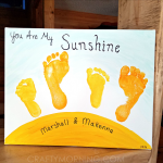 """""""You Are My Sunshine"""" Sibling Footprint Canvas"""