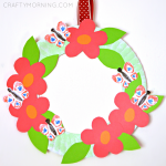 Paper Plate Flower Garden Wreath