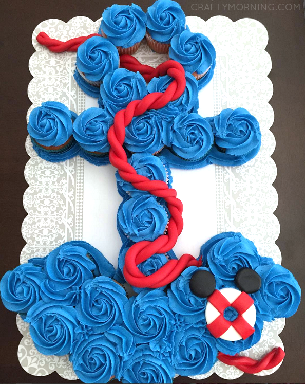 How To Make An Anchor Cupcake Cake Crafty Morning