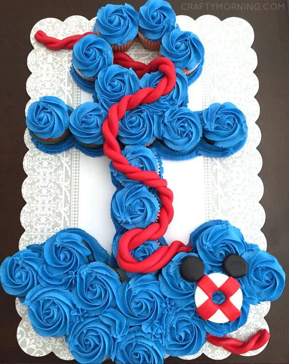 How To Make An Anchor Cupcake Cake