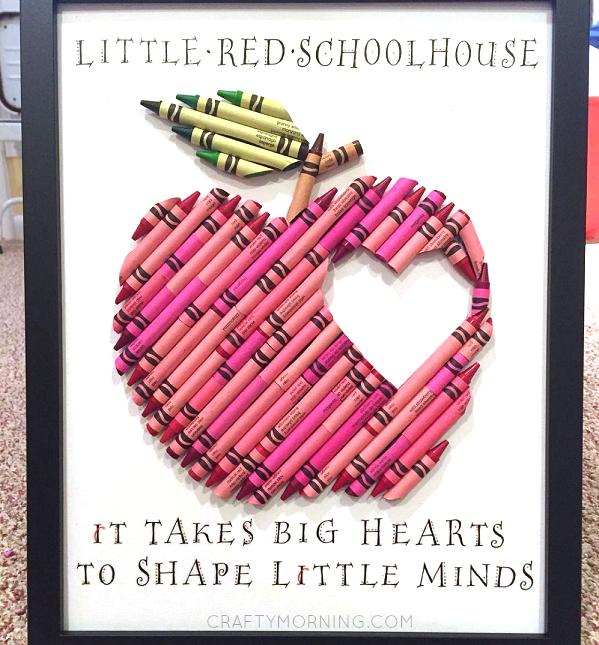 Apple Crayon Teacher Appreciation Gift - Crafty Morning
