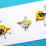 Cute Little Button Birds