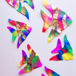Coffee Filter Rainbow Fish (Kids Craft)
