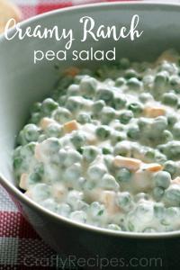 Creamy Ranch Pea Salad Recipe