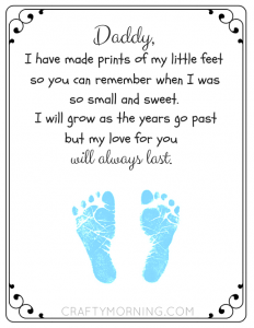 photograph about Footprints Poem Printable named Totally free Printable Fathers Working day Footprint Poem - Cunning Early morning