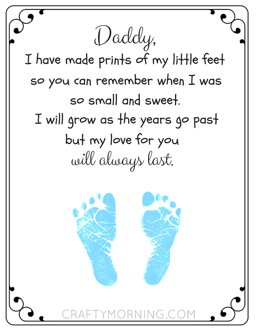 Free Printable Father S Day Footprint Poem Crafty Morning