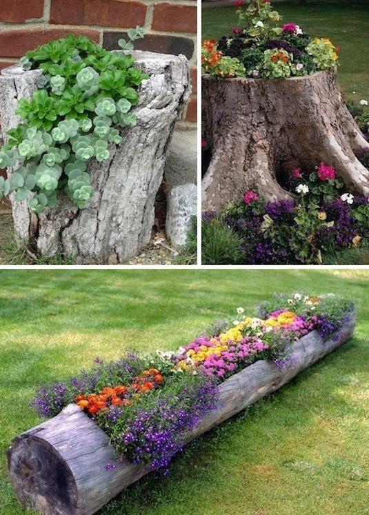 decorated-tree-stump-gardens