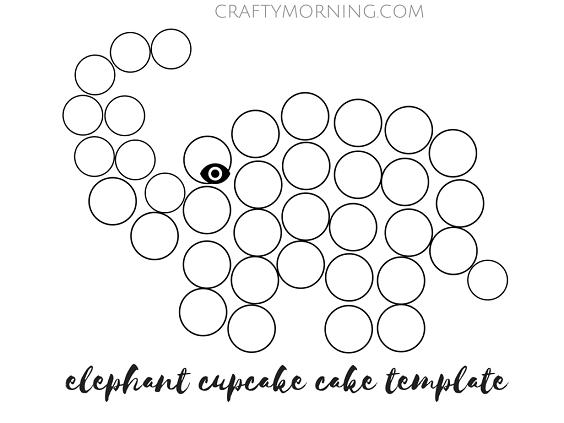 Cupcake Cake Design Templates : How to Make an Elephant Cupcake Cake - Crafty Morning