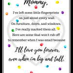 Free Mother's Day Fingerprint Poem Printable