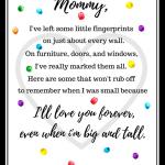Free Mother's Day Fingerprint Poem Printable