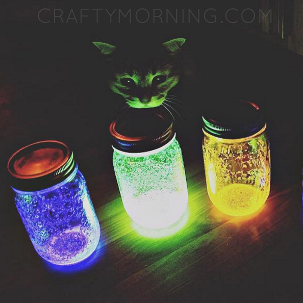 How to Make Glowing Jars (Using Glow Sticks) - Crafty Morning