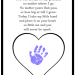Never Be Apart Grandma Poem Printable