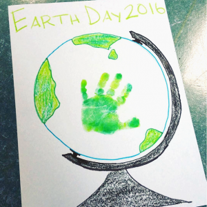 Handprint Earth Day Globe Craft