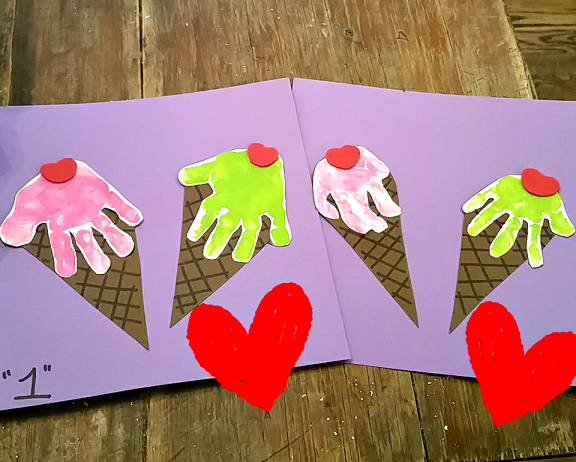 ice cream craft ideas handprint cone craft crafty morning 4726