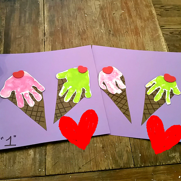 Handprint Ice Cream Cone Craft Crafty Morning