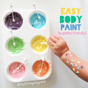 Homemade Body Paint Recipe (Eczema Friendly)