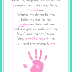 Mommy Belongs to Me Printable Poem