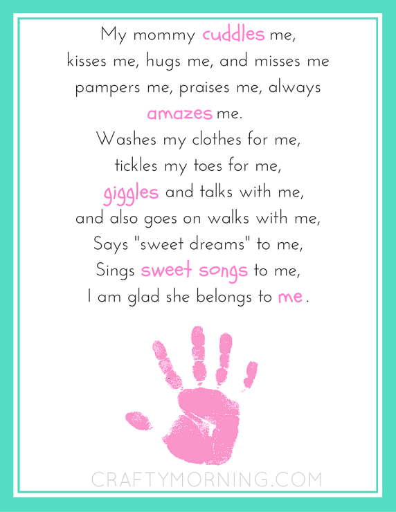 9 Free Mother S Day Printables Poems Crafty Morning We have selected a beautiful group of funeral poems for loss of a mum. 9 free mother s day printables poems