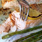 One Pan Lemon Salmon & Asparagus Recipe