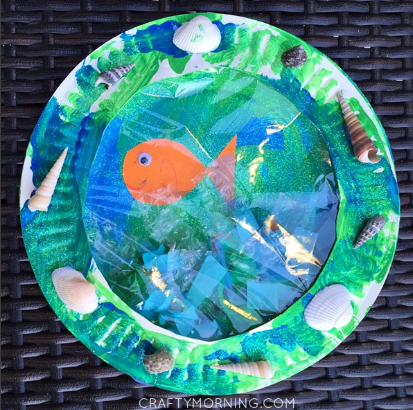 Paper Plate Porthole Fish Craft For Kids Crafty Morning