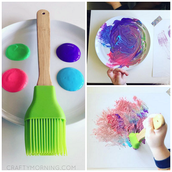 pastry brush painting idea crafty morning