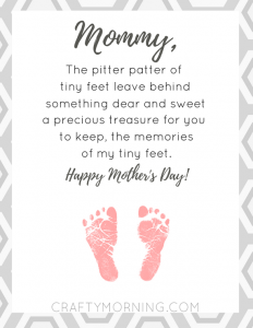 Pitter Patter of Tiny Feet Printable Poem