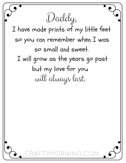 poetry templates for kids - free printable father 39 s day footprint poem crafty morning