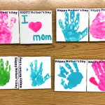 Handprint Tile Coasters for Mother's Day