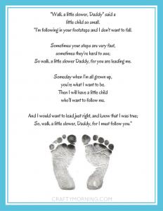"""Walk a Little Slower, Daddy"" Printable Poem"