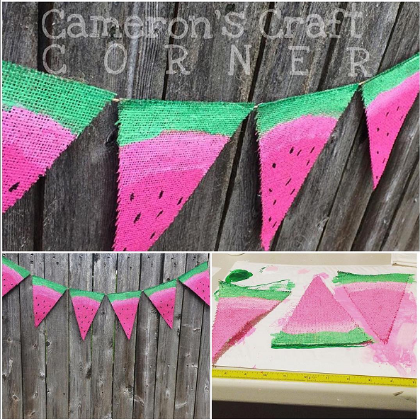 watermelon-burlap-bunting-craft-for-summer