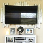 DIY Wood Pallet Accent Piece for a Mounted TV