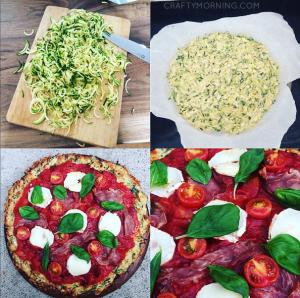 Zucchini Cheese Crust Pizza Recipe