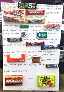 Funny Father's Day Candy Card