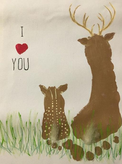 Reindeer Footprint Craft Pinterest
