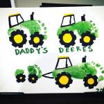 Daddy's Deeres (Footprint Tractor Gift)